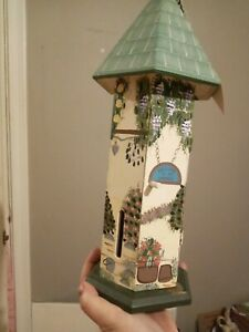 Vintage kathy hatch butterfly box, hand painted butterfly house, hang or stand