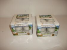 24  BRAND NEW IN BOX  YANKEE TEA LIGHT CANDLES IN CLEAN COTTON