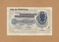 More details for #the falkland isla de malvinas 1 pound 1982 p-r2 af+ falklands war issue rare
