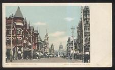 Postcard Fresno California/Ca Mariposa Street Business Storefronts view 1906