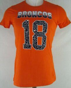 Denver Broncos NFL Team Apparel Youth Orange Short Sleeve Peyton Manning T-Shirt