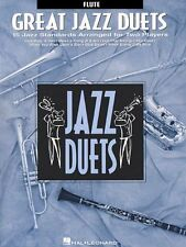 """""""GREAT JAZZ DUETS"""" STANDARDS ARRANGED FOR TWO PLAYERS """"FLUTE"""" MUSIC BOOK-NEW!!"""
