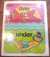 Playskool Play School Vintage Wooden Puzzle Burt Ernie Over Under 11 Pcs 3-5 Yrs