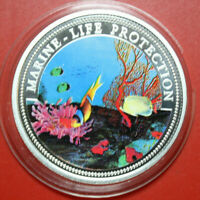 "Palau 5 Dollar 1994 ""Marine Life Protection"" #F3593 Coloured ""Meeresfauna"" Farbe"