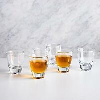 NIB- Circleware Tasters Shot Glasses Set of 6 -2 oz each Heavy Base