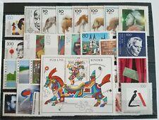 Germany Complete Year 1996 Stamp Set + Souvenir Sheet Singles MNH German Stamps