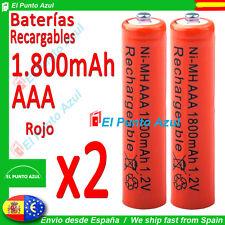2 Pilas AAA Recargables ★ 1800mAh ★ Altísima Capacidad - 1,2 voltios ★ Battery