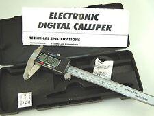 Electronic Digital Vernier Caliper Gauge Micrometer 6 Inch 150mm Stainless Steel