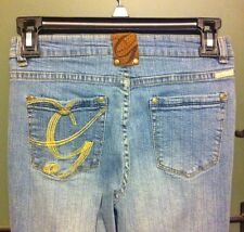 G unit Cute Blue Gold & Bling Logo Rhinestone Jeans Size 12