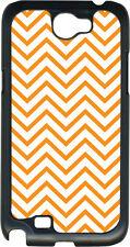 Orange Chevron Design on Samsung Galaxy Note II 2 Hard Case Cover