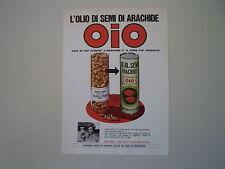 advertising Pubblicità 1970 OLIO DI SEMI OIO