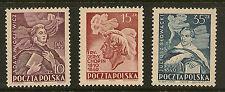 POLAND : 1949 National Celebrities  set  SG659-61 unmounted mint