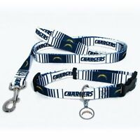 SAN DIEGO CHARGERS Dog Collar & Leash, ID Tag Pet Set NFL Licensed  **NEW**
