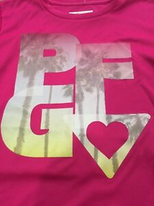 GIRLS COLUMBIA PFG HAZE T SHIRT UPF 50 SIZE M 10/12 RASPBERRY NWT