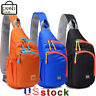 Men Women Cycle Nylon Sling Bag Backpack Travel Crossbody Shoulder Chest Daily