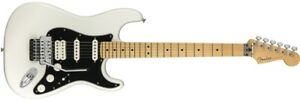 Fender Player Stratocaster Floyd Rose HSS Electric Guitar - Polar White Body,...