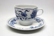 Ilmenau Graf von Henneberg Porzellan Tasse + Untere Kobalt Blau Zwiebelmuster
