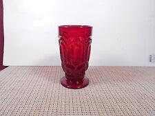 "L. G. Wright Glass Moon & Stars Ruby Iced Tea Glass 5 1/2"" x 3"""