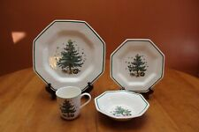 Nikko Christmastime Four-Piece Place Setting in the Original Box NEW