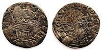Spain-Enrique IV (1425-1474). 1/2 Real. Segovia. Plata 1,6 g. Muy escasa