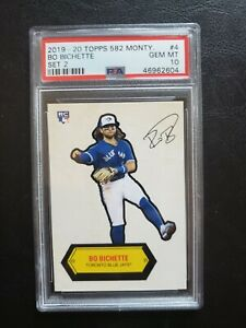 2019-20 Topps 582 Montgomery Set 2 Bo Bichette, Rookie, Sticker, #4, PSA10 GM MT
