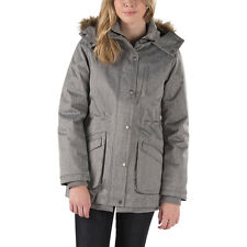 2017 NWT WOMENS VANS CADET 2 PARKA $160 S Grey Heather Fur Lining Not Included