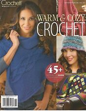 Warm & Cozy Crochet Magazine Fall 2012 45+ Patterns Afghans Sweaters Hats + NEW