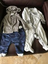 Carter'S 6 months Baby Boy 4Pc Elastic Pants, Top & Pj Outfit