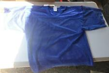 Lot of 3 Adams Usa Adult Porthole Mesh Practice Football Jersey Blue Size L/Xl