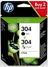 Original HP 304 Black & Colour Ink Cartridge Pack for HP Deskjet 2620