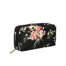 LeSportsac Classic Rectangular Cosmetic Make Up Bag in Garden Rose NWT