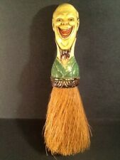 Grinning Man's Head Butler / Valet Clothes Antique Whisk  Brush