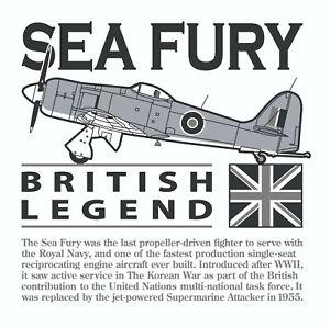 Hawker Sea Fury Royal Navy/RAN/RCN/RNN Fighter Aircraft White Coaster.