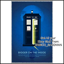 "Fridge Fun Refrigerator Magnet DOCTOR WHO TARDIS ""BIGGER ON THE INSIDE"" poster"
