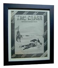 THE CLASH+Enough Rope+TOUR+POSTER+AD+RARE ORIGINAL 1978+FRAMED+FAST GLOBAL SHIP