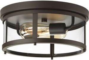 Progress Lighting Gunther 2 Light Antique Bronze Outdoor Flushmount P550021-020