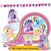 MY LITTLE PONY RAINBOW Birthday Party Range - Tableware & Decorations {Amscan}