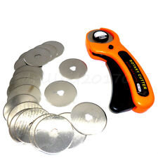 45mm Rotary Cutter W/ 20pcs Spare Blades Rotary Cutter Fabric Paper Circular Cut