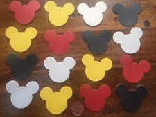 50 XL Mickey Mouse Tête Oreilles Grand Parti Carte Table Confettis Rouge Blanc Noir