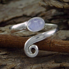 Hot Sell 925 Sterling Silver Rainbow Moonstone Toe Ring Adjustable utr-15