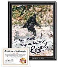 Personalized Bigfoot Sasquatch Autograph Photo w/ Coa - Funny Novelty Gag Gift