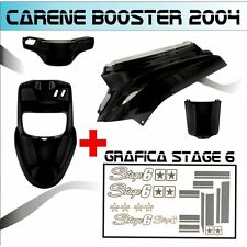 KIT FAIRING BLACK MBK BOOSTER BW'S FROM 2004 + STICKER STAGE 6 ADESIVI ARGENTO
