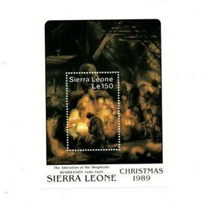 VINTAGE CLASSICS - Sierra Leone 1165 - Christmas 1989 - Souvenir Sheet -MNH