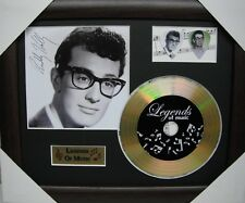 Buddy Holly Preprinted Autograph, Gold Disc & Plectrum Presentation