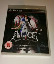 Alice madness returns PS3 Neuf Scellé UK PAL Sony Playstation 3 Très rare jeu