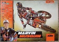 MARVIN MUSQUIN 2012 POSTER Supercross Motocross Red Bull KTM Factory