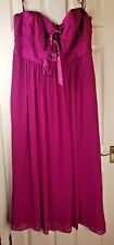 DEBUT Ladies Violet/Pink Evening Wedding Party Prom Formal Long Gown Dress UK 20
