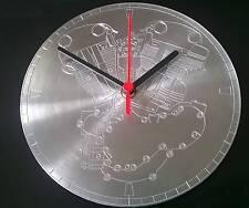 Reloj De Pared De Cuarzo De Aluminio CNC Grabado Nudillo Cabeza De Harley Davidson Motor