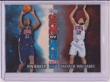 SWEET 2000 TOPPS USA VIN BAKER (R) / NATALIE WILLIAMS REFRACTOR #SS5 NBA ~ WNBA