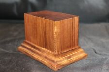 1.75x3x2.5 Hand Made Wooden base for figures/miniatures - Solid walnut wood